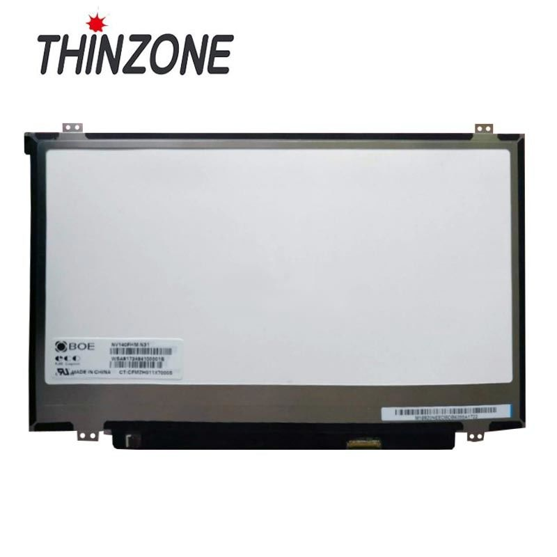 High Brightness 14 Inch Laptop Lcd Screen , Lcd 14 Inch Nv140fhm-N41 FHD IPS