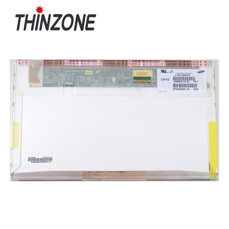 "Wholesale 14.0"" 1366*768 lcd display LTN140AT07 / LP140WH4-TLA1 TFT-LCD lcd laptop replacement screen"